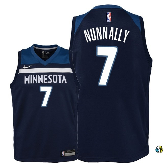 Maillot NBA Enfant Minnesota Timberwolves NO.7 James Nunnally Marine Icon 2018