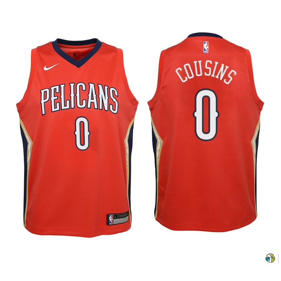 Maillot NBA Enfant New Orleans Pelicans NO.0 Demarcus Cousins Rouge Statement 2018