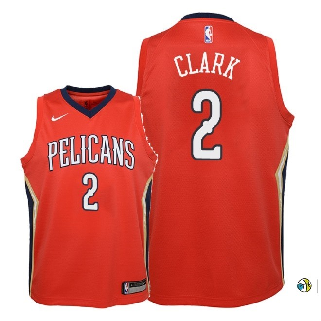 Maillot NBA Enfant New Orleans Pelicans NO.2 Ian Clark Rouge Statement 2018