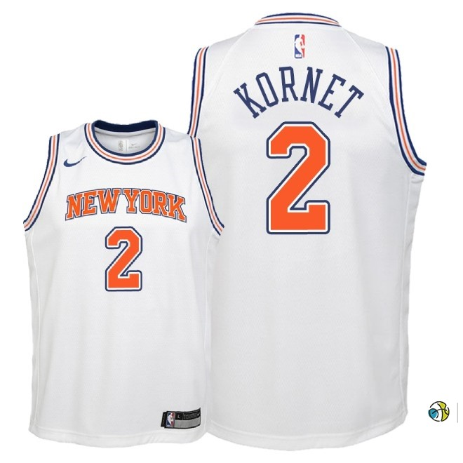 Maillot NBA Enfant New York Knicks NO.2 Luke Kornet Blanc Statement 2018