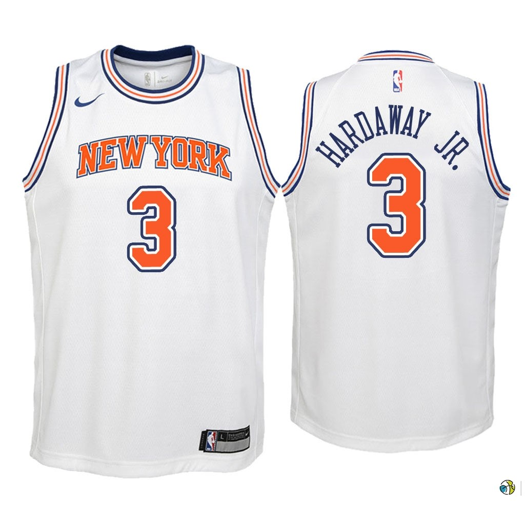 Maillot NBA Enfant New York Knicks NO.3 Tim Hardaway Jr Blanc Statement 2018