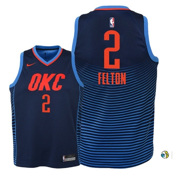 Maillot NBA Enfant Oklahoma City Thunder NO.2 Raymond Felton Marine Statement 2018