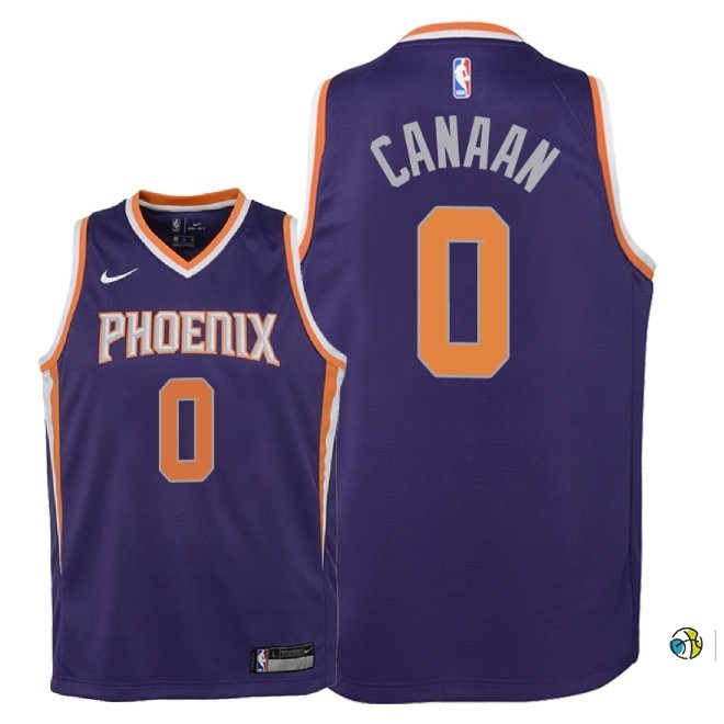 Maillot NBA Enfant Phoenix Suns NO.0 Isaiah Canaan Pourpre Icon 2018