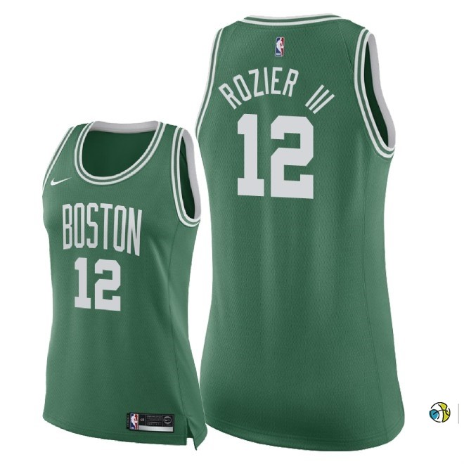 Maillot NBA Femme Boston Celtics NO.12 Terry Rozier Iii Vert Icon 2018