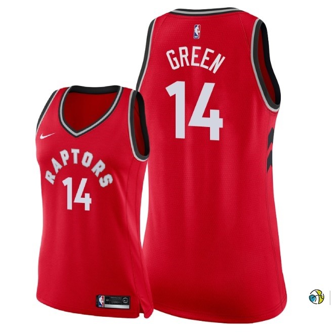 Maillot NBA Femme Toronto Raptors NO.14 Danny Green Rouge Icon 2018