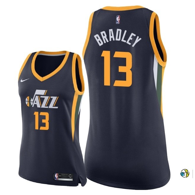 Maillot NBA Femme Utah Jazz NO.13 Tony Bradley Marine Icon 2018