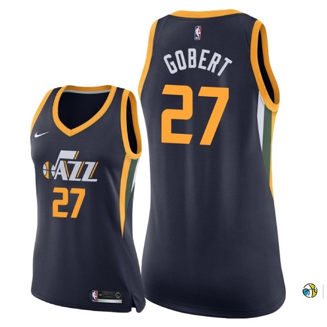 Maillot NBA Femme Utah Jazz NO.27 Rudy Gobert Marine Icon 2018