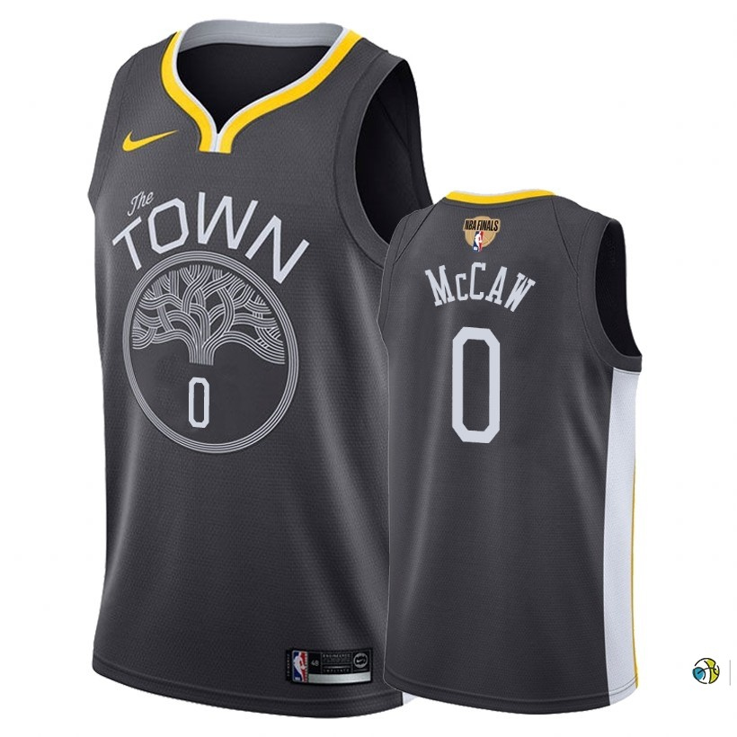 Maillot NBA Golden State Warriors 2018 Final Champions NO.0 Patrick Mccaw Noir Statement Patch