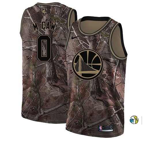 Maillot NBA Golden State Warriors NO.0 Patrick Mccaw Camo NBA Swingman Collection Realtree 2018