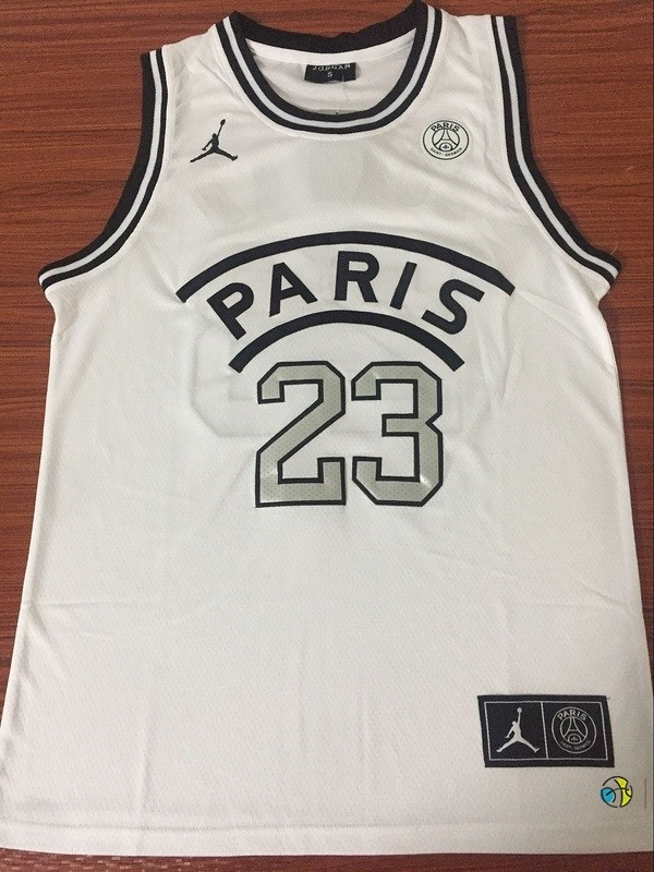 Maillot NBA Jordan X Paris Saint-Germain NO.23 Jordan Blanc 2018