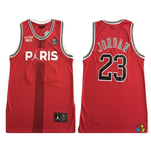Maillot NBA Jordan X Paris Saint-Germain NO.23 Jordan Rouge 2018