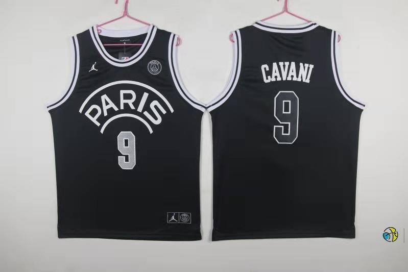 Maillot NBA Jordan X Paris Saint-Germain NO.9 Edison Cavani Noir 2018