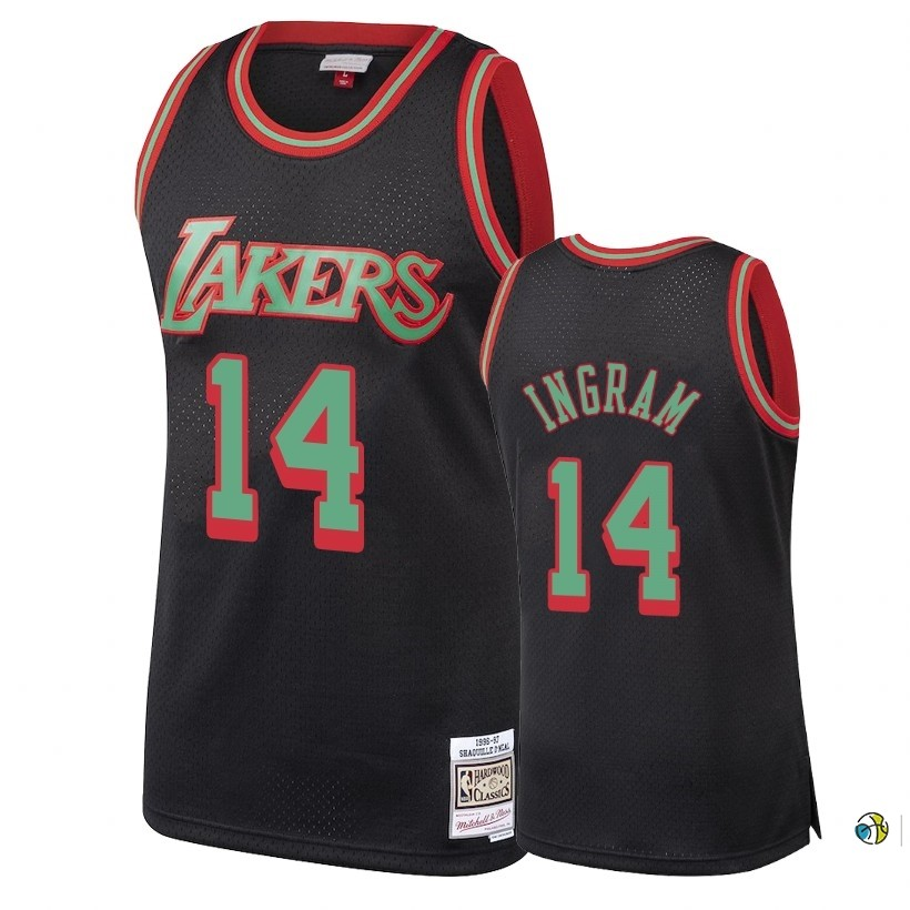 Maillot NBA Los Angeles Lakers 2018 Noël NO.14 Brandon Ingram Retro Noir