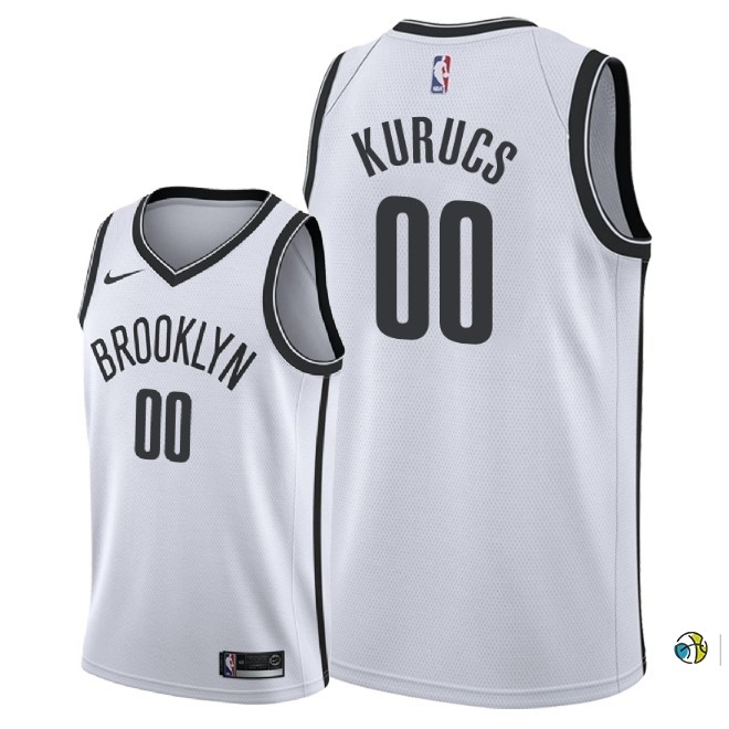 Maillot NBA Nike Brooklyn Nets NO.0 Rodions Kurucs Blanc Association 2018