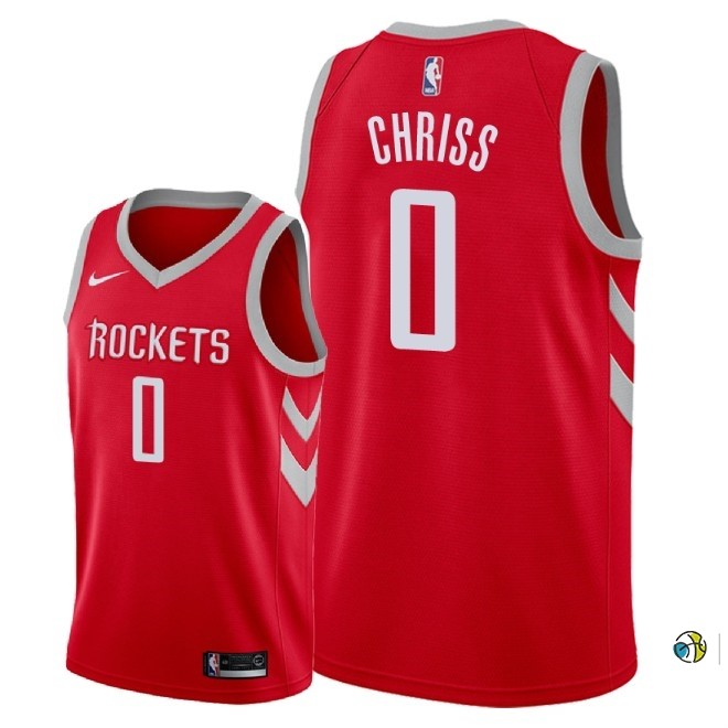 Maillot NBA Nike Houston Rockets NO.0 Marquese Chriss Rouge Icon 2018