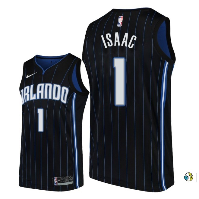 Maillot NBA Nike Orlando Magic NO.1 Jonathan Isaac Noir Statement 2018