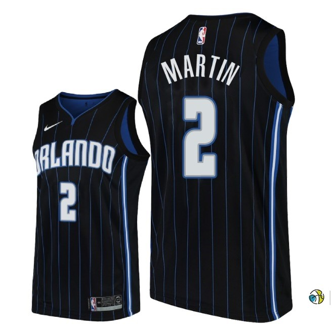 Maillot NBA Nike Orlando Magic NO.2 Jarell Martin Noir Statement 2018-19