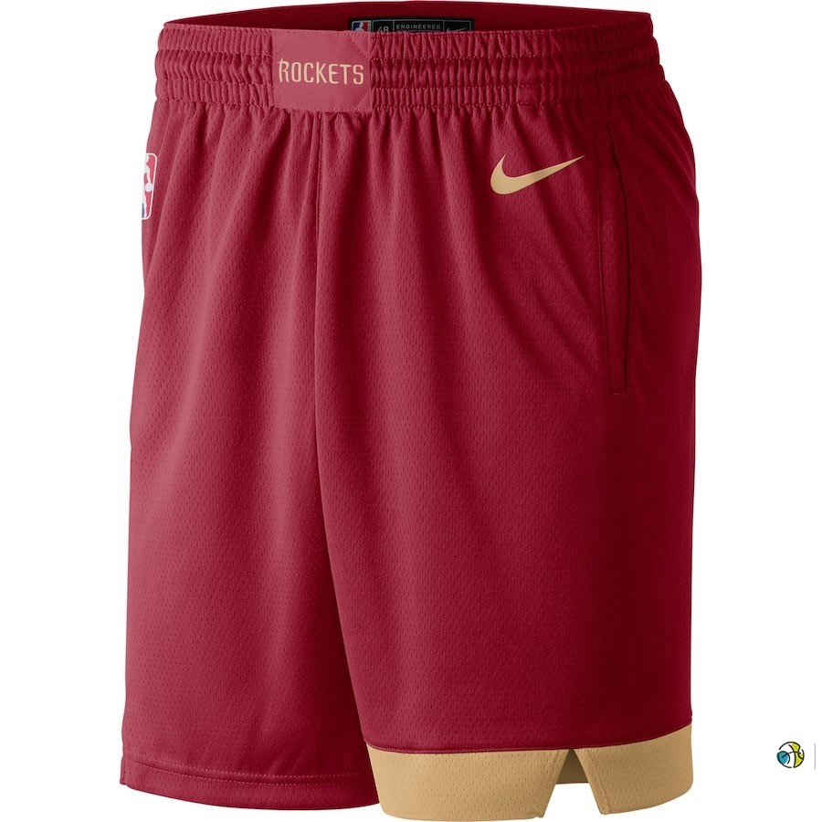 Pantalon Basket Houston Rockets Nike Rouge Ville 2018-19