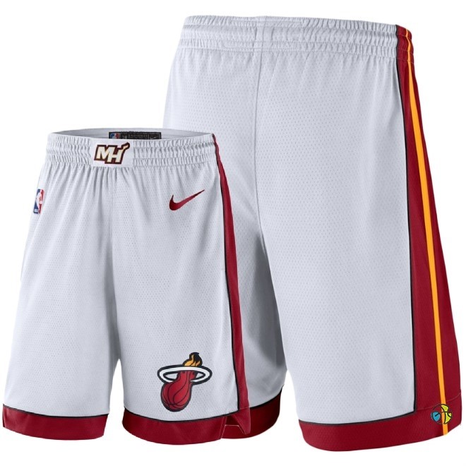Pantalon Basket Miami Heat Nike Blanc 2018
