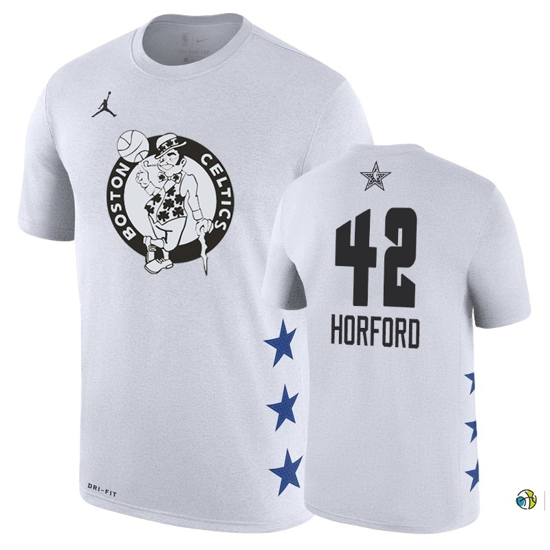 Maillot NBA 2019 All Star Manche Courte NO.42 Al Horford Blanc