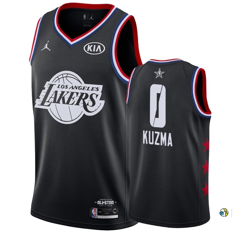 Maillot NBA 2019 All Star NO.0 Kyle Kuzma Noir