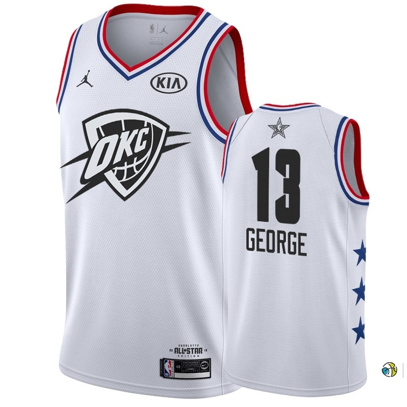 Maillot NBA 2019 All Star NO.13 Paul George Blanc