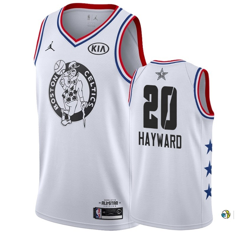 Maillot NBA 2019 All Star NO.20 Gordon Hayward Blanc