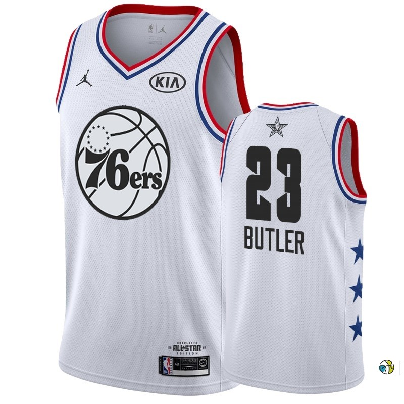 Maillot NBA 2019 All Star NO.23 Jimmy Butler Blanc