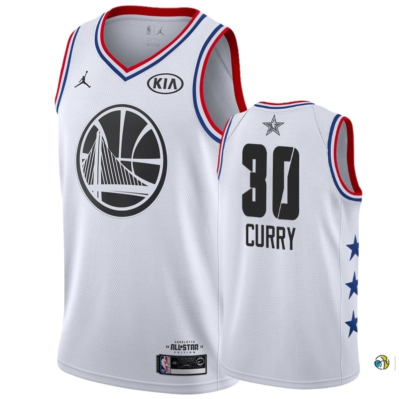 Maillot NBA 2019 All Star NO.30 Stephen Curry Blanc