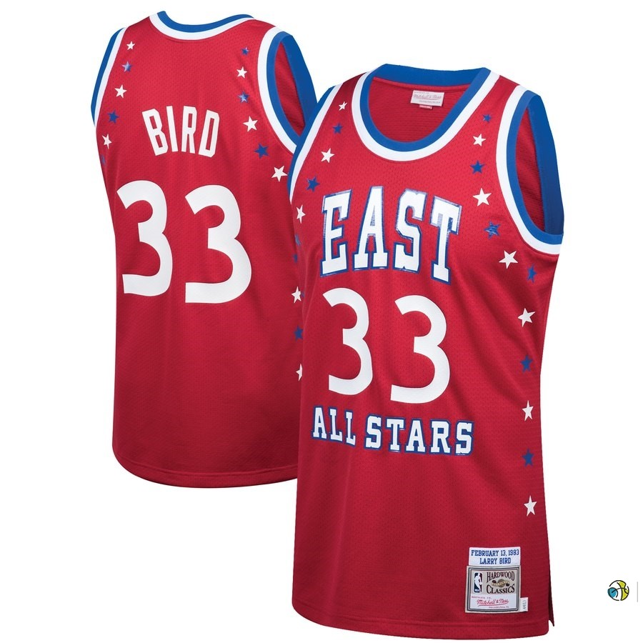 Maillot NBA All Star 1983 NO.33 Larry Bird Rouge