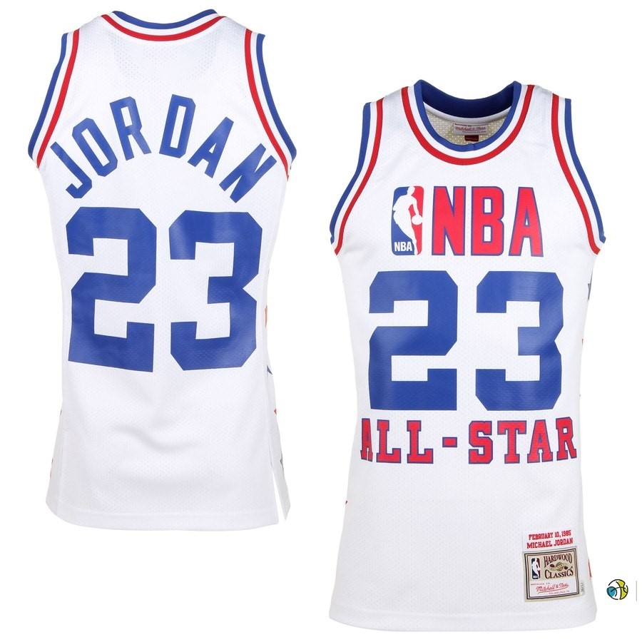Maillot NBA All Star 1985 NO.23 Michael Jordan Blanc