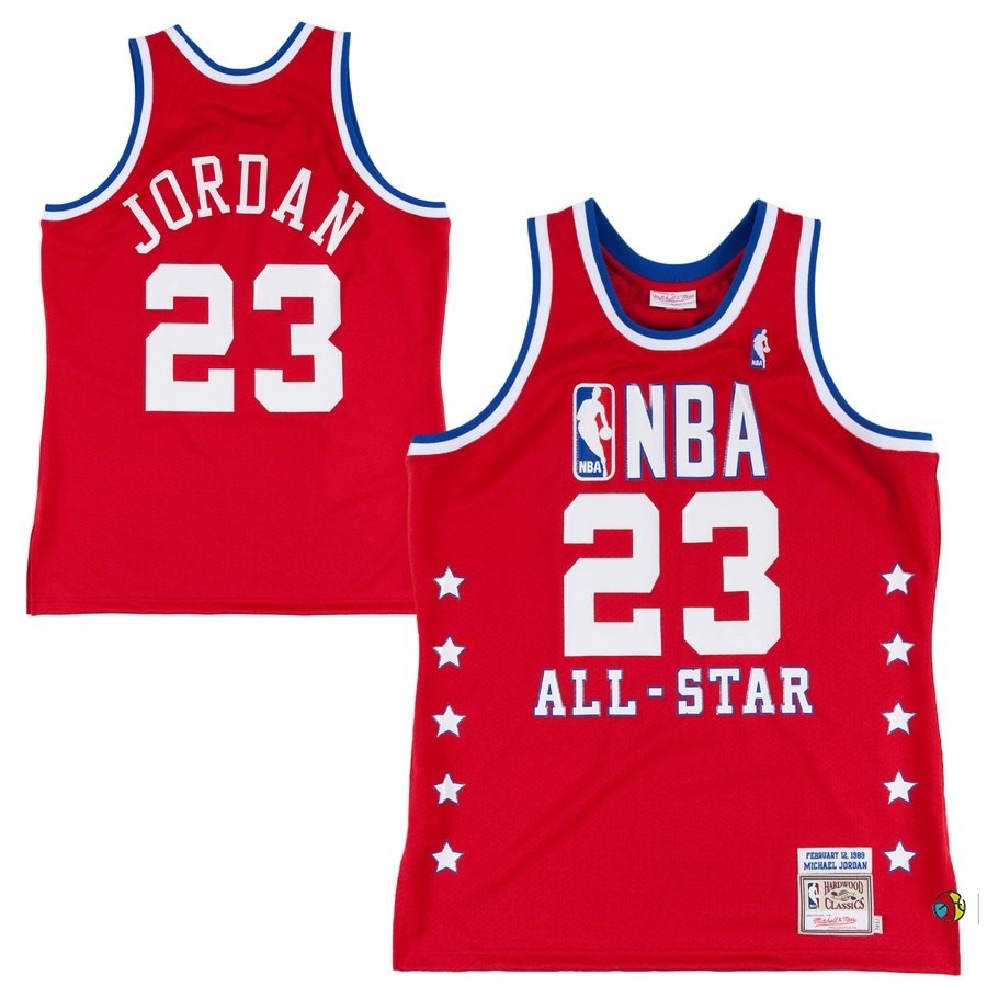 Maillot NBA All Star 1988 89 NO.23 Michael Jordan Rouge