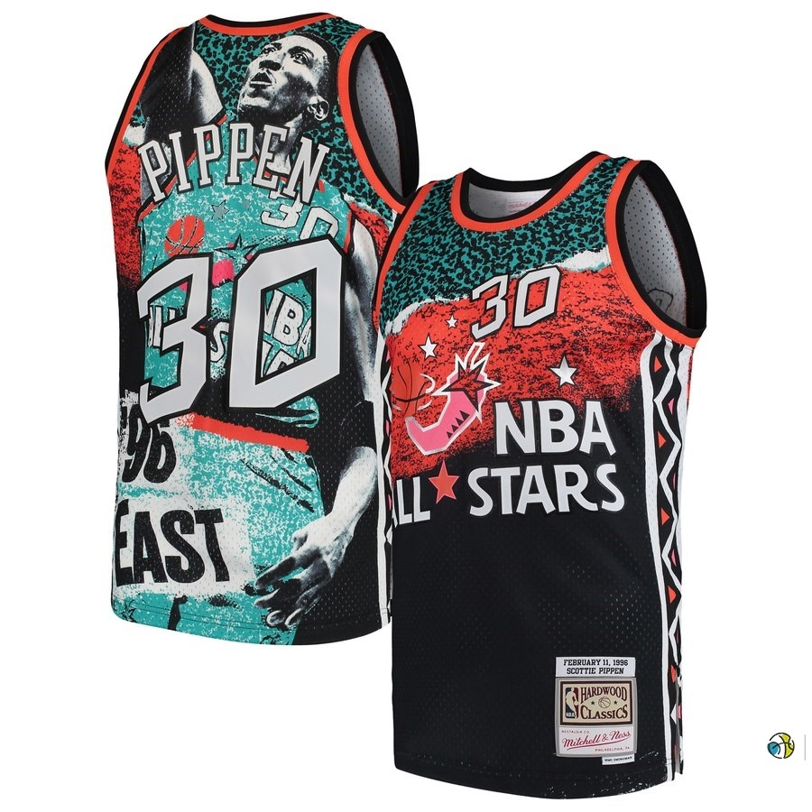 Maillot NBA All Star 1996 NO.30 Scottie Pippen Noir