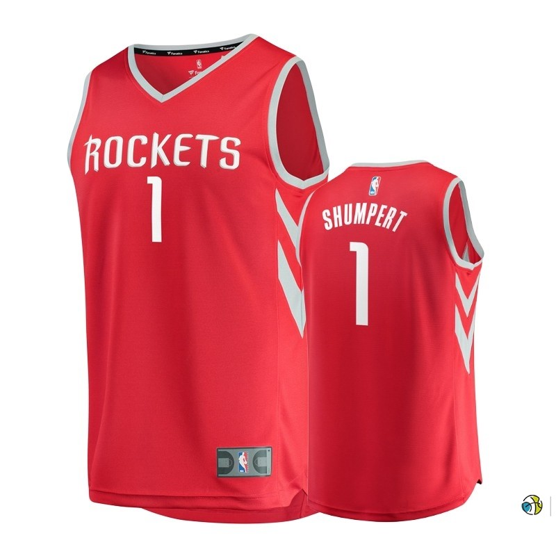 Maillot NBA Enfant Houston Rockets NO.1 Iman Shumpert Rouge Icon