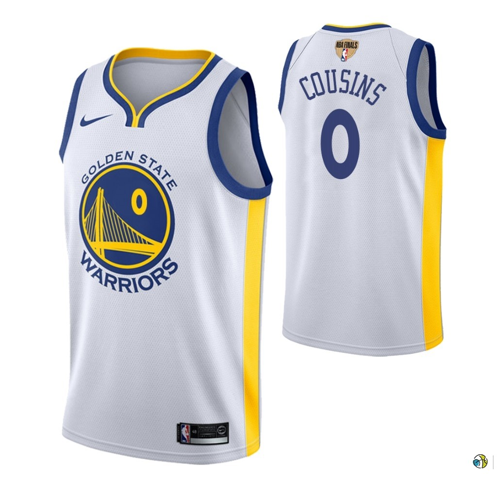 Maillot Golden State Warriors 2019 NBA Finales NO.0 Demarcus Cousins Blanc Association