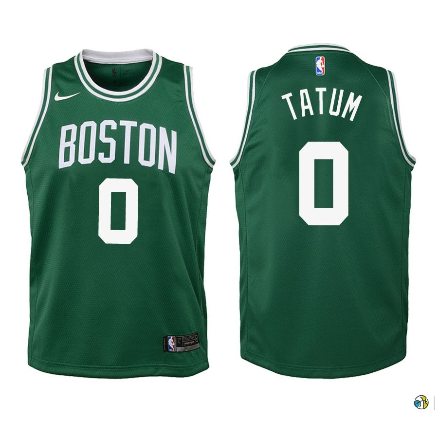 Maillot NBA Enfant Boston Celtics NO.0 Jayson Tatum Vert Icon 2018-19