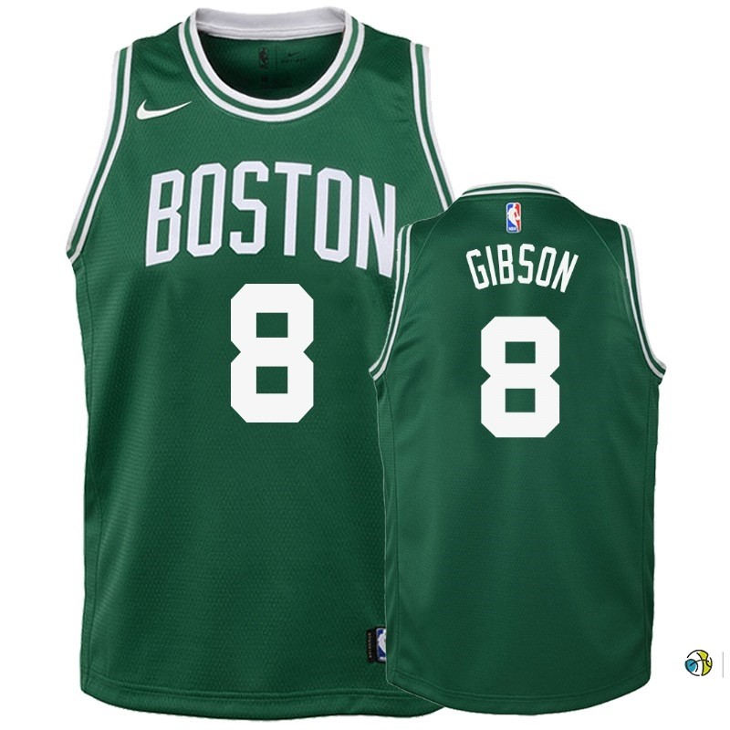 Maillot NBA Enfant Boston Celtics NO.8 Jonathan Gibson Vert Icon 2018-19