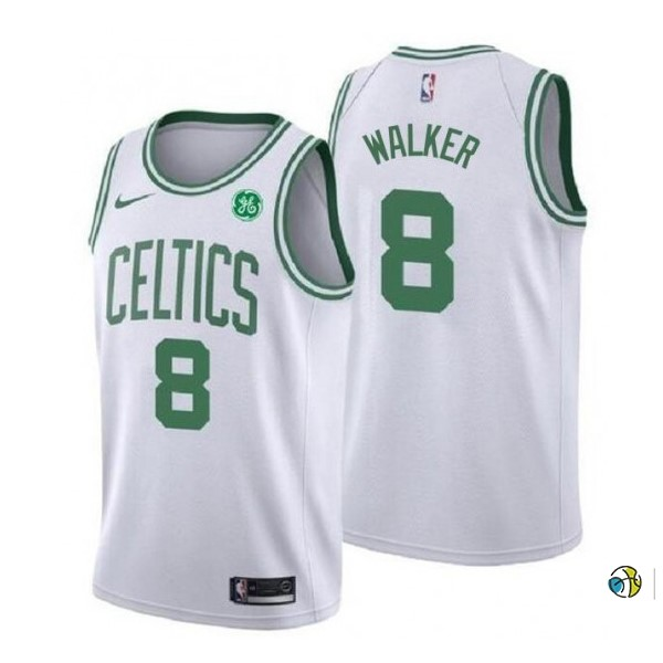 Maillot NBA Enfant Boston Celtics NO.8 Kemba Walker Blanc Association 2019-20