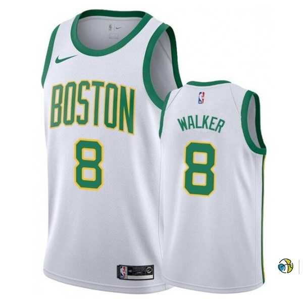 Maillot NBA Enfant Boston Celtics NO.8 Kemba Walker Blanc Ville 2019-20