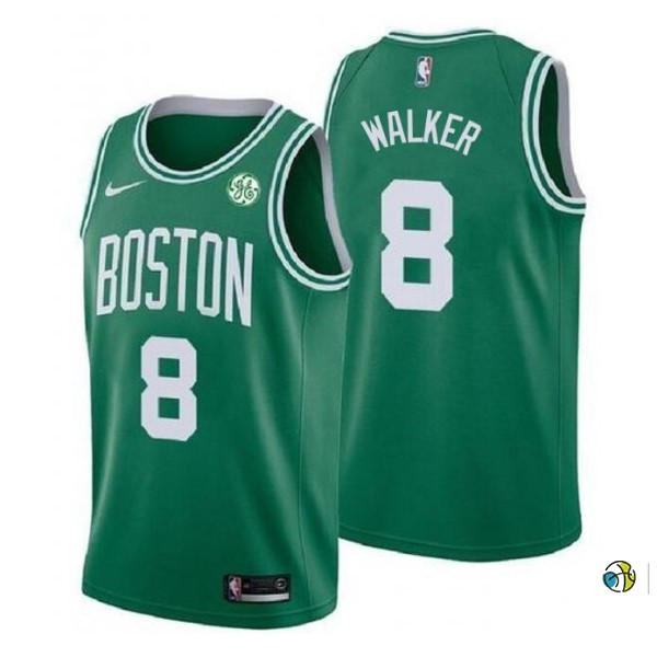 Maillot NBA Enfant Boston Celtics NO.8 Kemba Walker Vert 2019-20