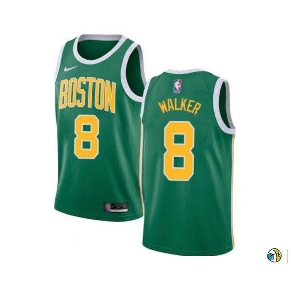 Maillot NBA Enfant Boston Celtics NO.8 Kemba Walker Vert Icon 2019-20