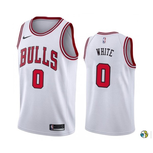 Maillot NBA Nike Chicago Bulls NO.0 Coby White Blanc Association 2019-20
