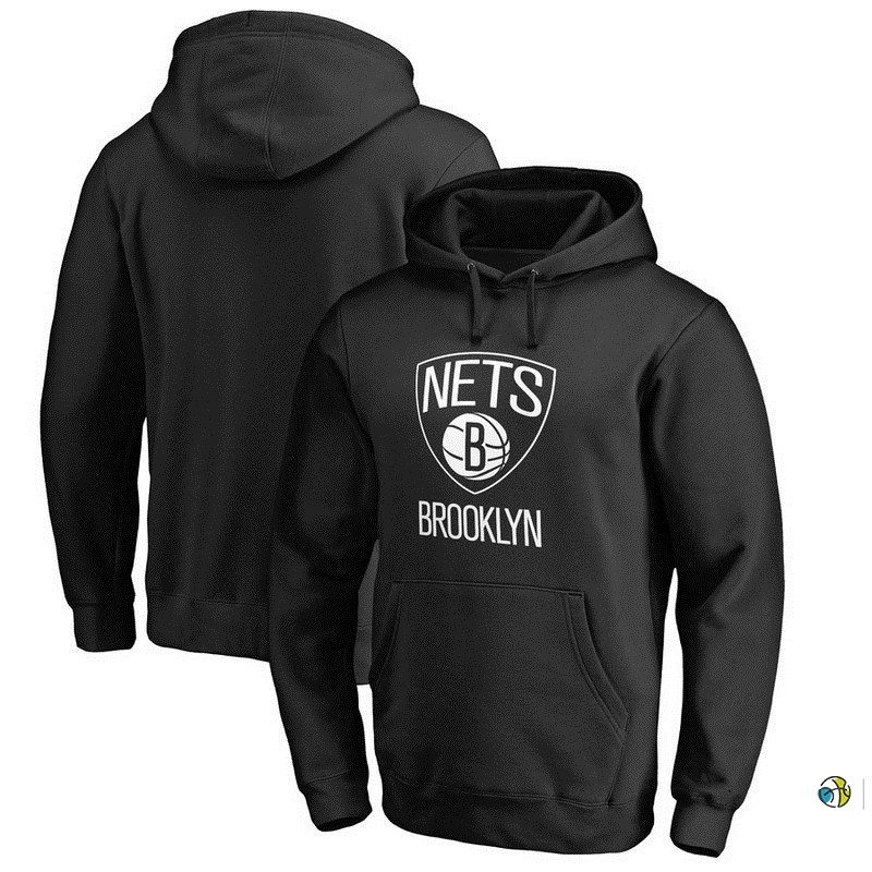 Hoodies NBA Brooklyn Nets Noir Blanc