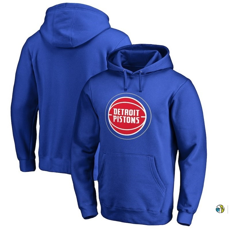 Hoodies NBA Detroit Pistons Bleu Rouge