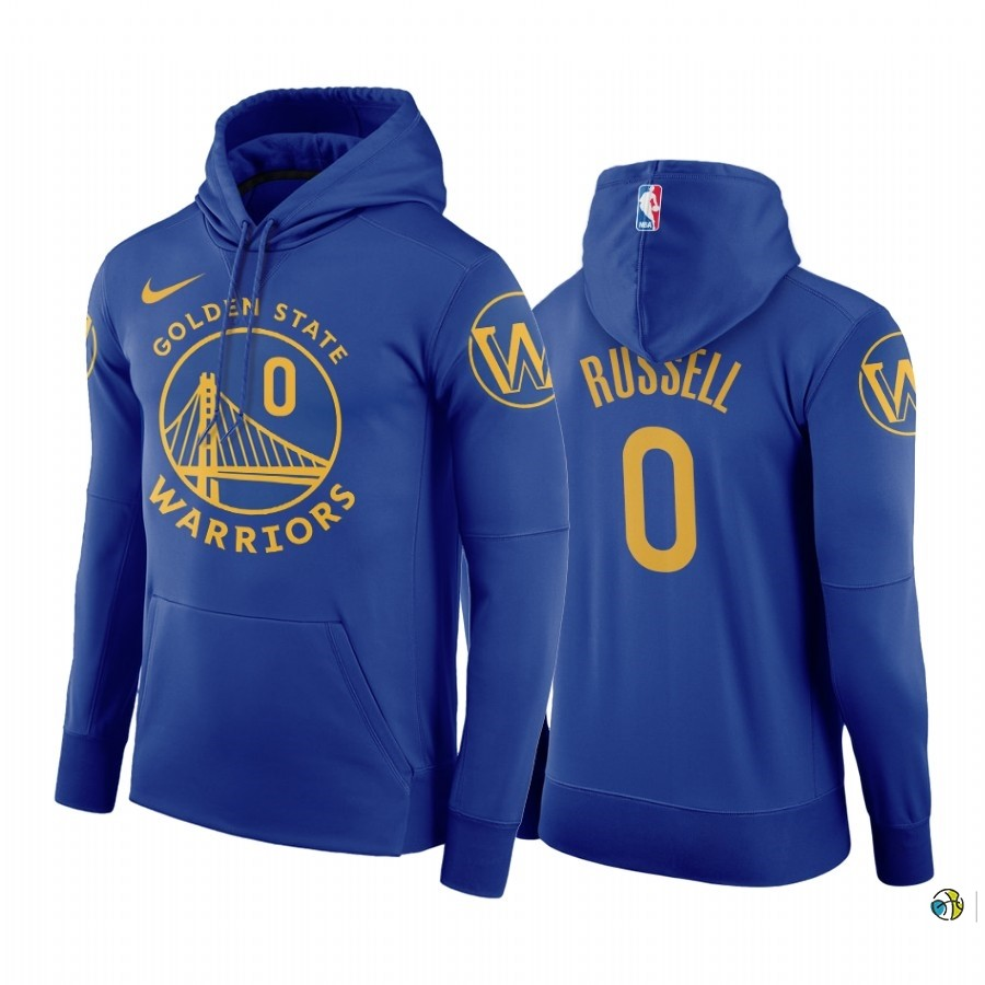 Hoodies NBA Golden State Warriors NO.0 D'Angelo Russell Bleu