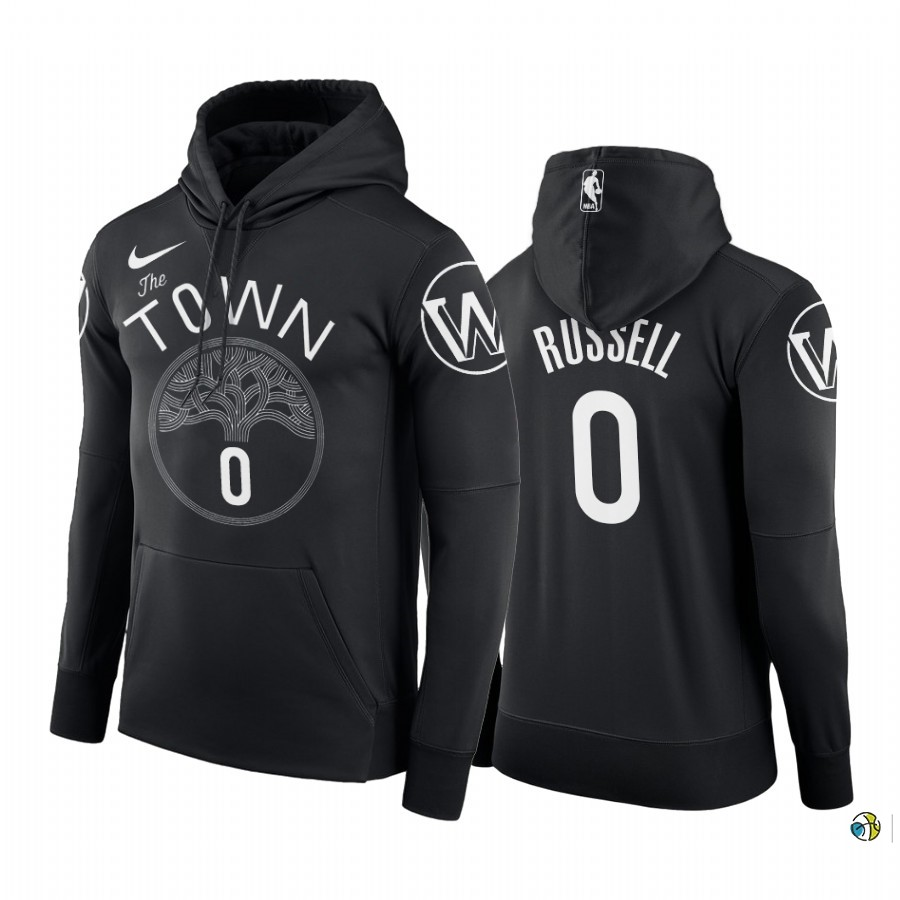 Hoodies NBA Golden State Warriors NO.0 D'Angelo Russell Noir