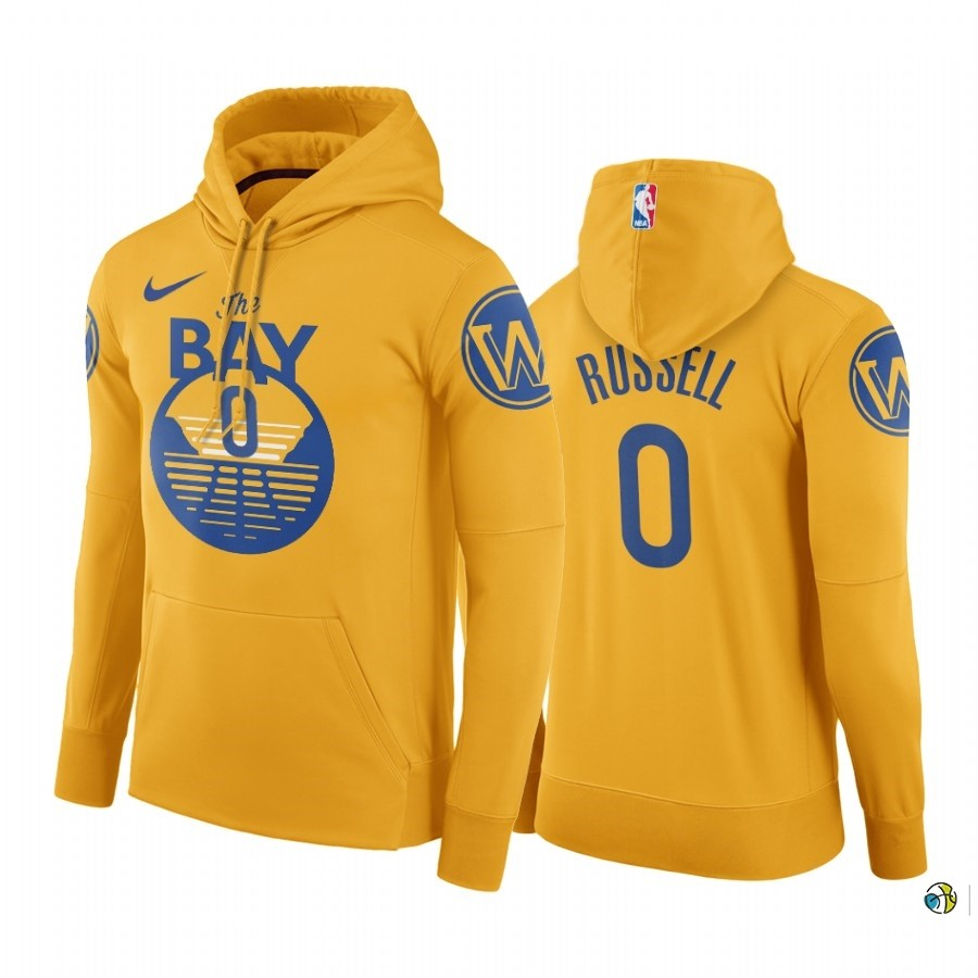Hoodies NBA Golden State Warriors NO.0 D'Angelo Russell Or