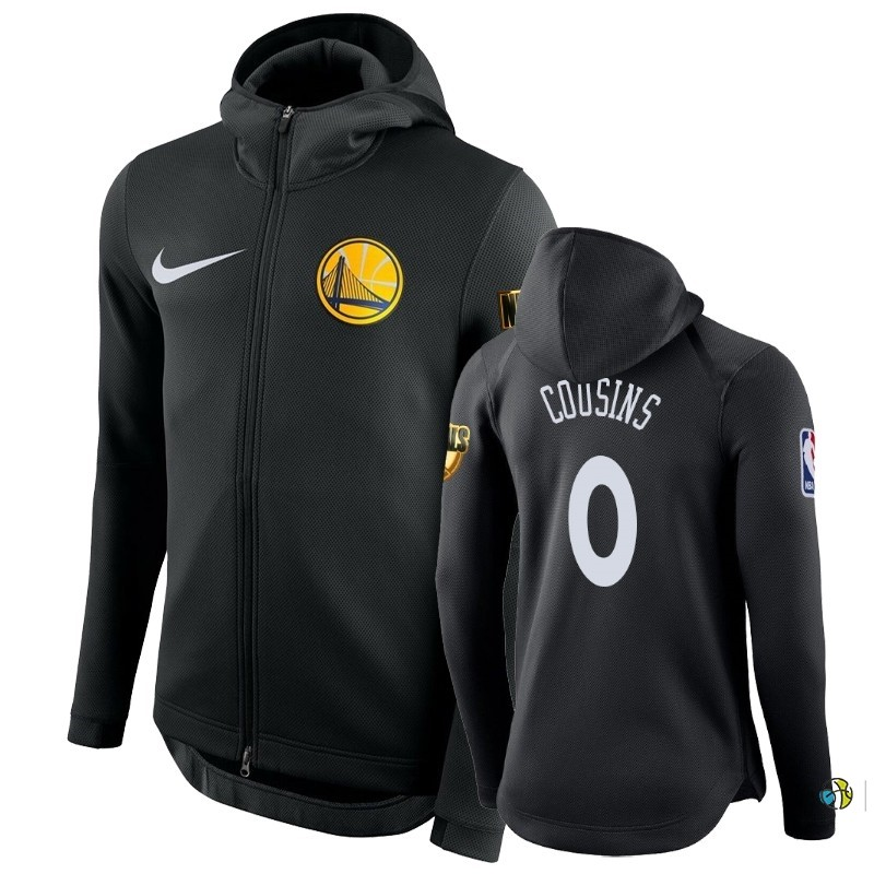 Hoodies NBA Golden State Warriors NO.0 DeMarcus Cousins Noir