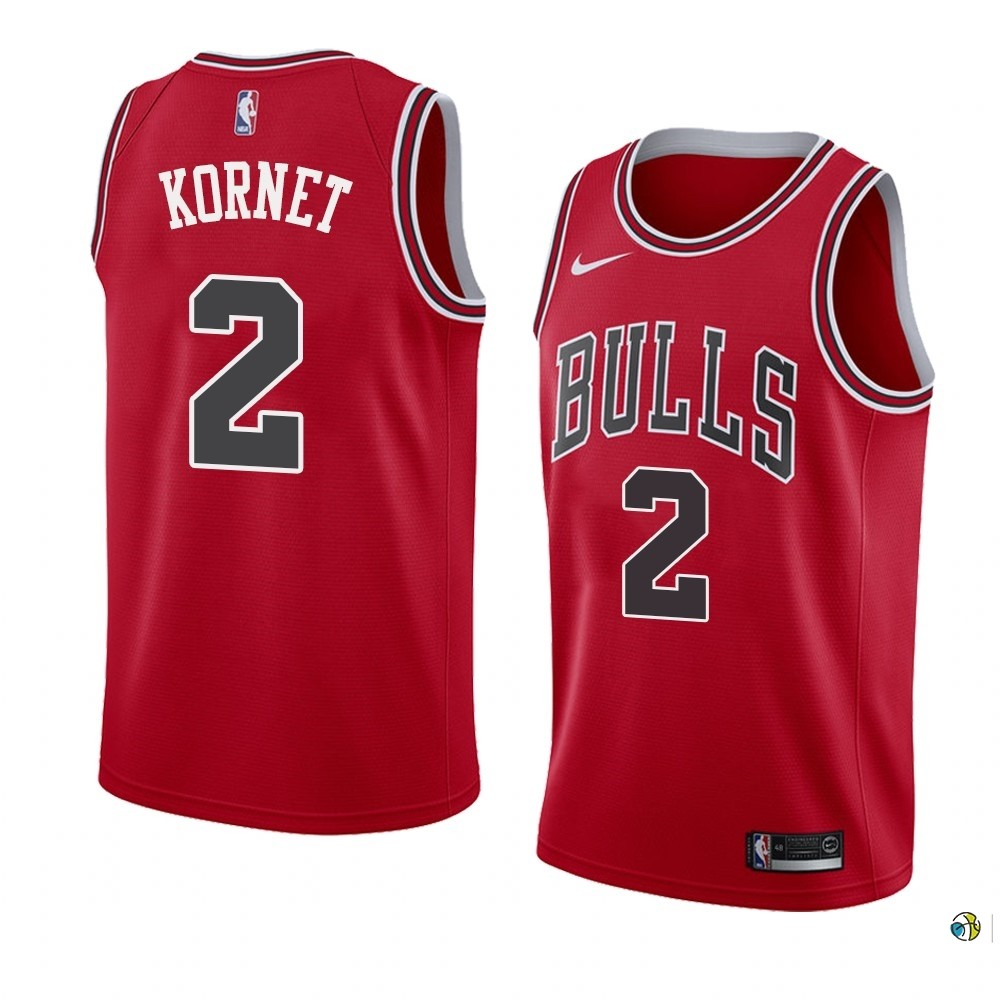 Maillot NBA Nike Chicago Bulls NO.2 Luke Kornet Rouge Icon 2019-20