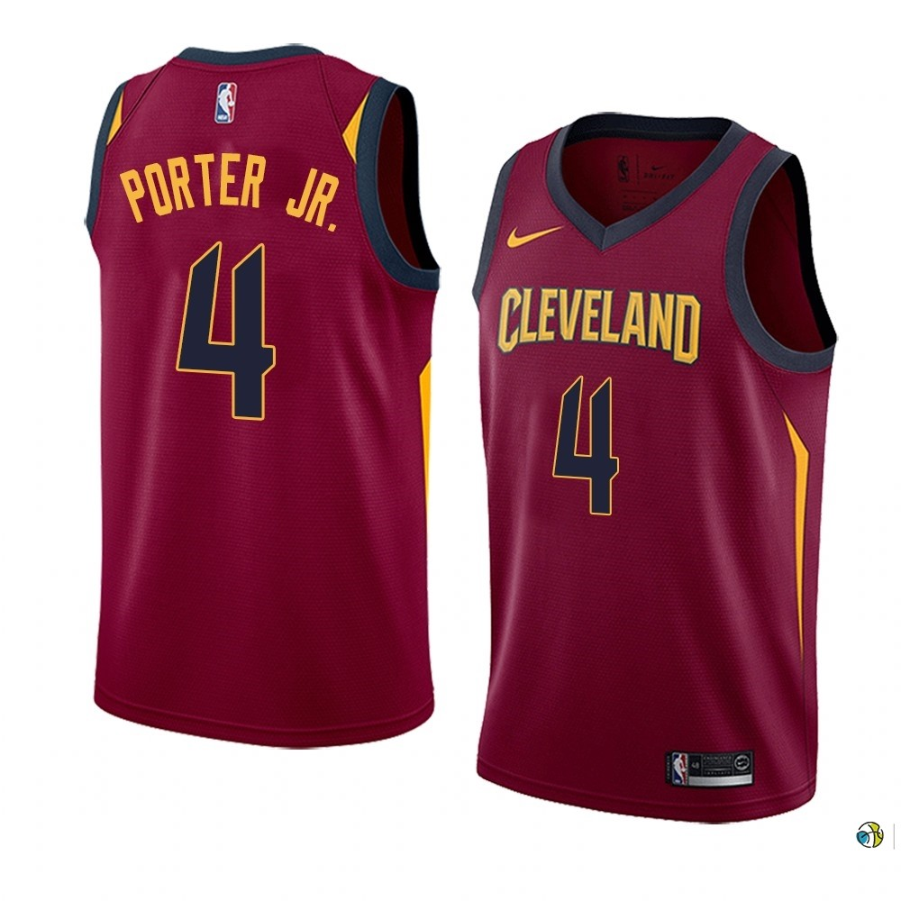 Maillot NBA Nike Cleveland Cavaliers NO.4 Kevin Porter Jr. Blanc Icon